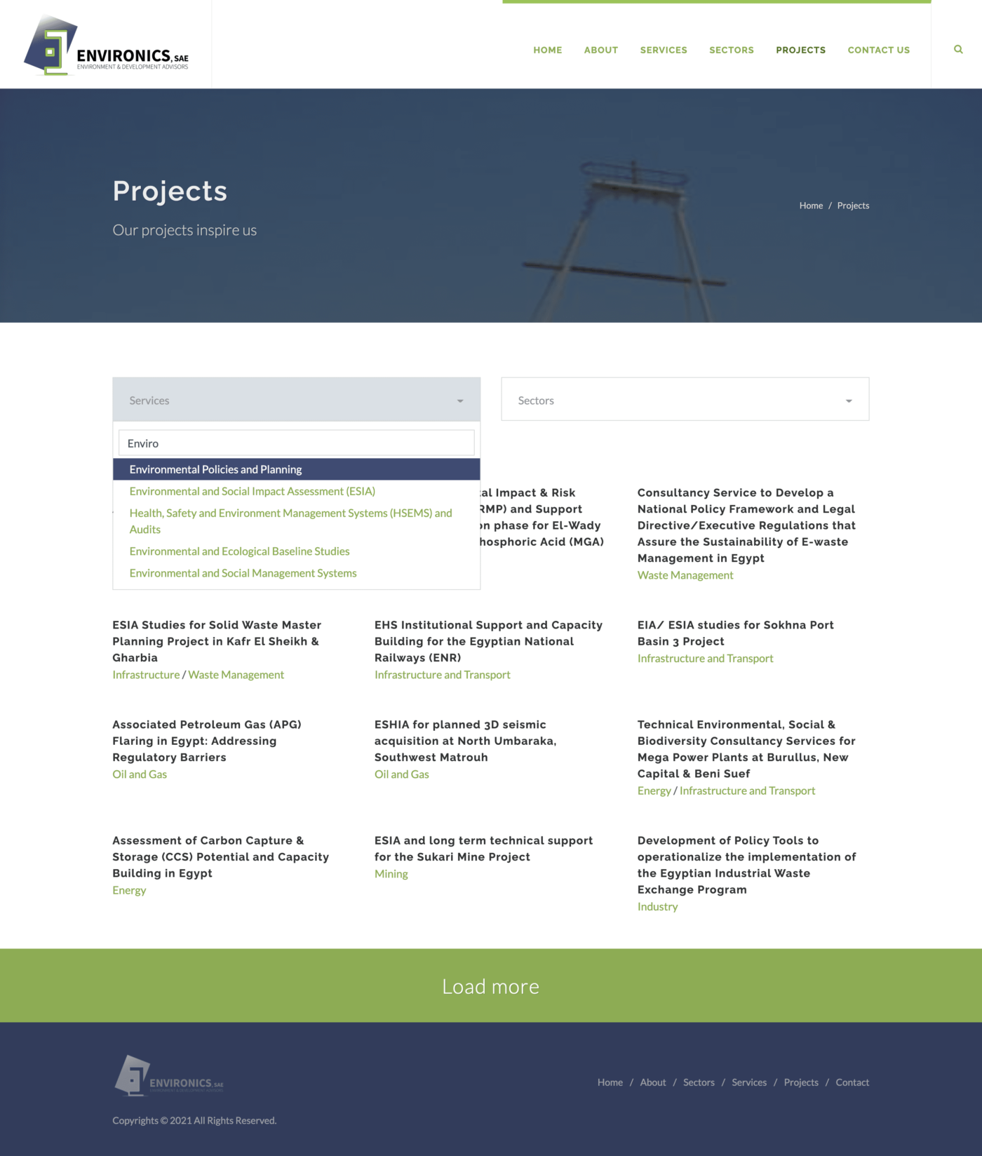 Data interaction and UI/UX of environics projects
